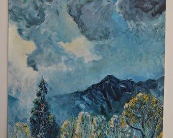 Vintage Print: Rosenberg's Painting 'Storm Clouds'