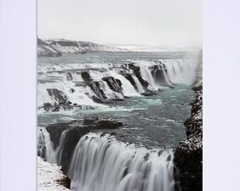 Gullfoss Waterfall, Iceland. Fine Art Photographic Print