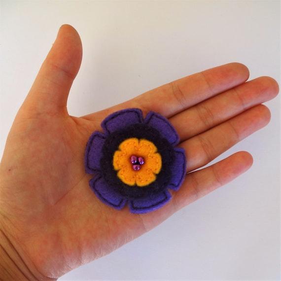 Purple Dawn Poppy Flower Brooch