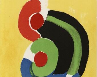 "SONIA DELAUNAY-TERK (Ukranian/French, 1885-1979), ""Composition"", 1972, original color lithograph"