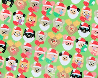 Xmas Animals in hat gift sealing stickers