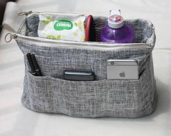 Tote Bag Insert, Makeup Organizer, Customized Color Size Label, Diaper Handbag, Tote Bag Organize, Cosmetic Organize Purse