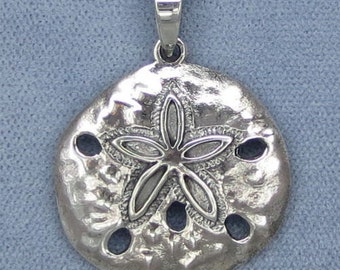 Sand Dollar Sterling Silver Pendant - P150802 - Free Shipping to the USA