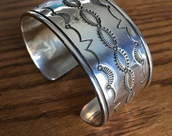 Sterling Silver Stamped Bracelet
