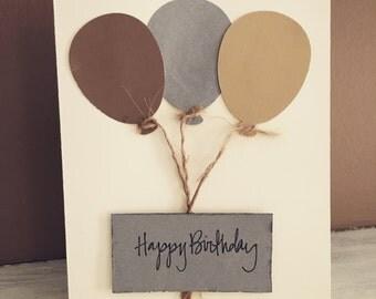 Birthday card, birthday, handmade