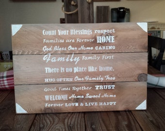 No Place Like Home Wooden Sign
