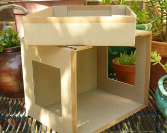 DIY Miniature Doll House - Flat-Packed Cardboard Kit - Mini Box Room - Huisje Nude - 1:12 scale (approx)