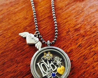 Friendship Floating Locket and Chain