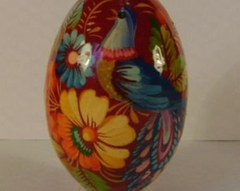 Collectible Easter egg, handmade folk art, hand painted wooden egg, signed by artist
