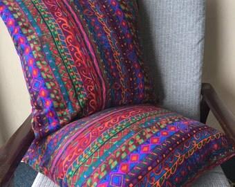 Retro 90s Mexicana Palm Springs Cushion Cover 18x18inch 45x45cm Cushion Throw Cover