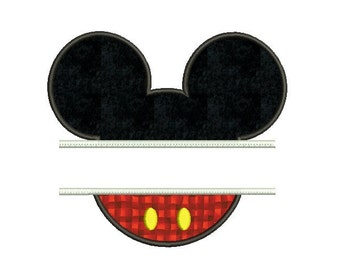 Mickey frame embroidery , Disney embroidery applique design , Disney applique design