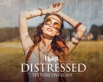 50 Distressed Texture Overlays for Photoshop