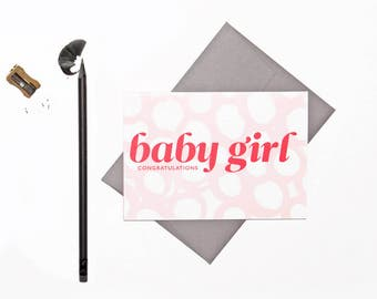 Baby Girl   New Baby   Congratulations   Hand-Painted   Greeting Cards