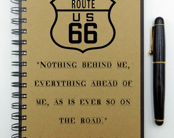 Travel Notebook, Jack Kerouac, Travel Journal, On the Road, Chalkboard, Adventure Journal, Travel Diary, Hardcover, Spiral Notebook, Lined