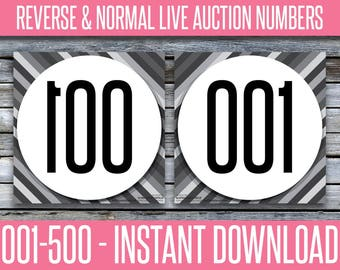 Auction Numbers - Reverse / Mirror / Backward & Normal - MIRIT_14