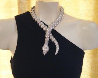 Vintage Serpentine necklace/earring set-STEAL IT SALE