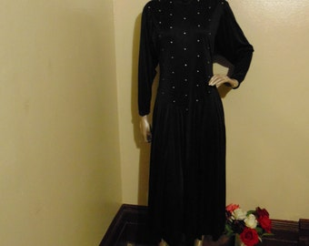 Midnight Rhinestone Dress