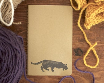 Stalking cat notebook - Journal - Sketchbook