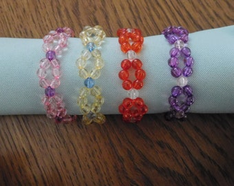 Handmade Beaded Napkin Rings (Set of 4)