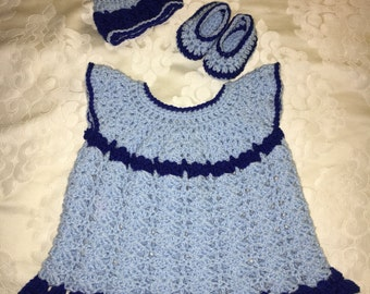 Dress/jumper baby girl set