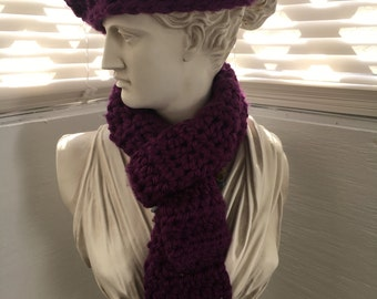 Childs beret with scarf