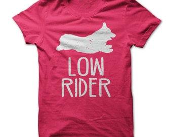 LOW RIDER CORGI T-shirt.Welsh Corgi T-shirt.Welsh Corgi tees.Corgi t shirt.Corgi owners t-shirt.Gift for corgi owners.Fans of corgi's tees.