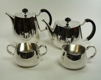 ELKINGTON and Co. Silver Plate - PRIDE Pattern - 4 Piece Tea Set