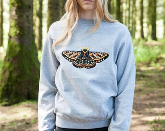 Golden Moth Embroidered Sweater