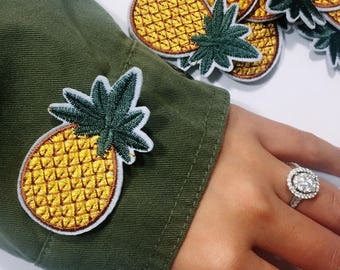 Ac/pineapples /free shipping iron on patch /embroidery appliqués