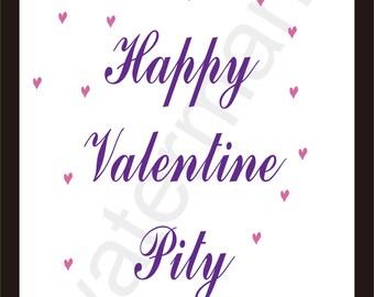 happy valentine pity, Love valentine day art print , Valentines Day printable art, art print valentines, valentine art print
