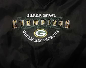 Vintage Green Bay Packers windbreaker, Packers jacket, 90'S, Packers Super Bowl, Green Bay Packers, Light Packers jacket, 90's windbreaker
