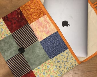 Quilted Patchwork Laptop Sleeve