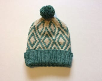 Children's Knit Diamonds Hat