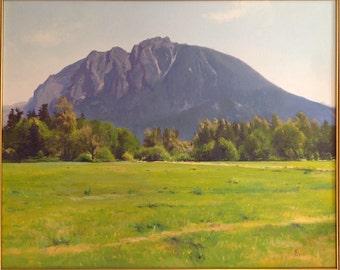 William Elston Oil Painting of Mt. Si Northwest Landscape Artist
