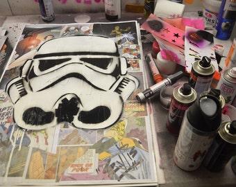 Star Wars Stromtrooper graffiti collage