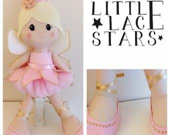 Handmade doll, Fairy doll, fairy, rag doll, christening gift, new baby gift, large doll, fairy doll, handmade doll, nursery decor