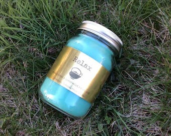 Relax, Eucalyptus and Spearmint Jar Candle