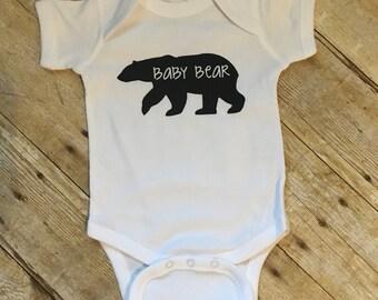 Baby bear onesie // Baby Bear shirt // baby shower gift // unisex baby onesie // baby shirt // toddler shirt //