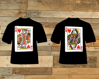 King And Queen Playing Cards - T-Shirt Set
