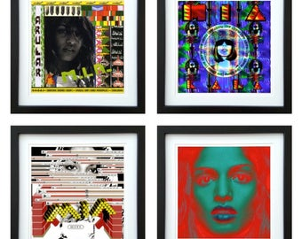 M.I.A. - Framed Album Art - Set of 4 Images