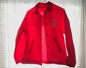 SALE: 1975 Cincinnati Reds World Champs Rain Coat // Windbreaker