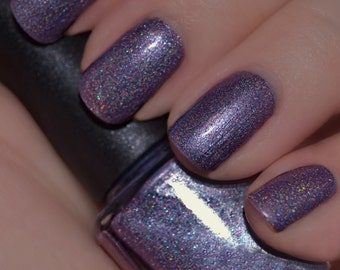 Razzoo Razzle - Purple Holographic Sparkle Nail Polish
