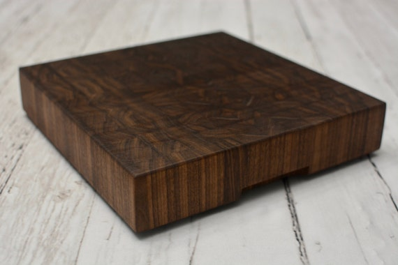 extra thick black walnut butcher block cutting board