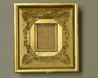 19th Century French Empire Small Gilded Frame