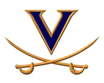 8 SIZE! Virginia Cavaliers Embroidery Designs College Football Embroidery Designs PES Digital Machine Embroidery Instant Download