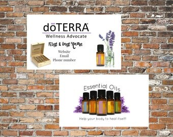doTERRA Business Cards/Your information/ Essential Oils