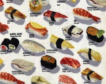 Cotton Fabric Quilting Robert Kaufman Sushi Platter