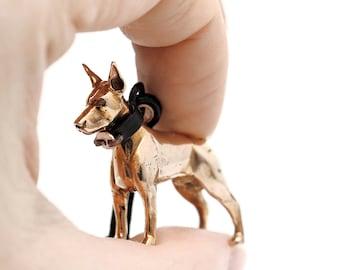 Vakkancs Doberman bronze 3D keychain