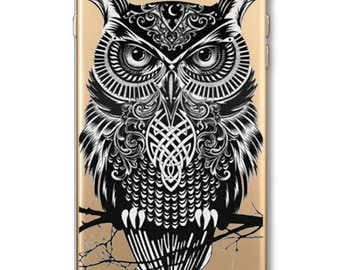 Wise Owl Phone Case for Apple iPhone 6 6S 6Plus 6s Plus 4 4S 5 5S SE 5C Soft Silicon Transparent Cover Animal Cases by NorthLightProducts