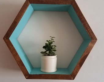 Light Blue Hexagon Shelf